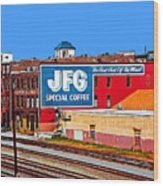 Jfg Coffee Wood Print by Steven  Michael