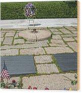 Jfk Eternal Flame Memorial Wood Print