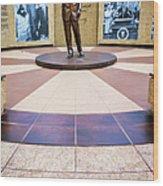 Jfk Tribute Fort Worth Wood Print