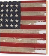 Jfk's Pt-109 Flag Wood Print