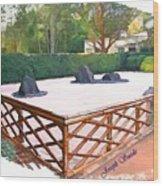 Jg-0001 Koetsu Style Fence Wood Print