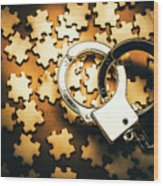 Jigsaw Of Misconduct Bribery And Entanglement Wood Print