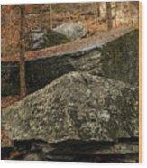 Jigsaw Rocks Wood Print