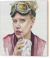Jillian Holtzmann Ghostbusters Portrait Wood Print