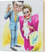 Jim And Tammy Wood Print by Harry West