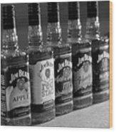 Jim Beam Bottles Wood Print