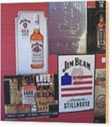 Jim Beam Signs On Display Wood Print