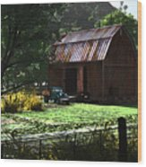 Jim Bob's Barn Wood Print
