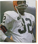 Jim Brown, Cleveland Browns, Signed Wood Print