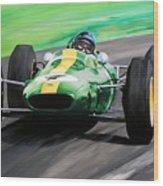 Jim Clark Lotus 25 Wood Print