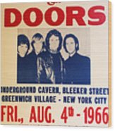 Jim Morrison And The Doors Poster Collection 3 Wood Print