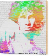 Jim Morrison Artwork Wood Print