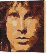Jim Morrison - Digital Art Wood Print