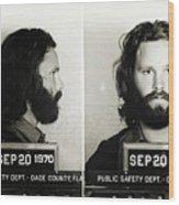 Jim Morrison Mugshot Wood Print