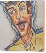 Jim Nabors Wood Print