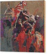 Jima Memorial Washington Dc Wood Print