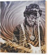 Jimi Hendrix - Legend Wood Print