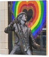 Jimi Hendrix Love On Capitol Hill Wood Print