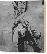 Jimi Hendrix Pop Star  Wood Print