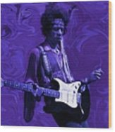 Jimi Hendrix Purple Haze Wood Print