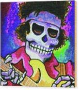 Jimi Hendrix, Soloing Wood Print