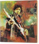 Jimi Hendrix The Legend 01 Wood Print