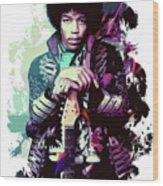 Jimi Hendrix, The Legend Wood Print