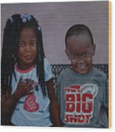 Jimia And Mr Bigshot Wood Print
