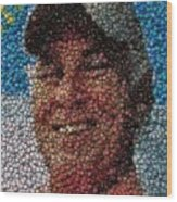 Jimmy Buffet Bottle Cap Mosaic Wood Print by Paul Van Scott