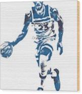 Jimmy Butler Minnesota Timberwolves Pixel Art 5 Wood Print