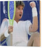 Jimmy Connors Wood Print