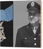 Jimmy Doolittle And The Medal Of Honor Wood Print