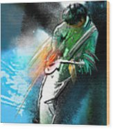 Jimmy Page Lost In Music Wood Print