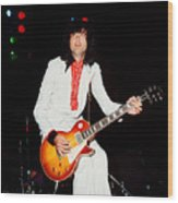 Jimmy Page Of Led Zeppelin Wood Print