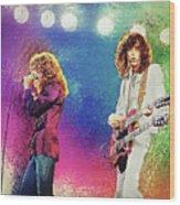 Jimmy Page - Robert Plant Wood Print