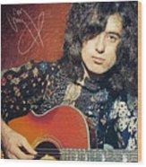 Jimmy Page Wood Print