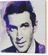 Jimmy Stewart, Vintage Actor Wood Print