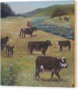 Jim's Cattle Wood Print