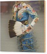 Pow Wow Jingle Dancer 7 Wood Print