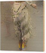 Pow Wow Jingle Dancer 9 Wood Print