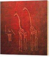 Jiraffes Wood Print