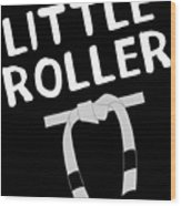 Jiu Jitsu Bjj Little Roller White Light Wood Print