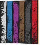 Jiu Jitsu Design United Belts Of Jiu Jitsu Vertical Light Martial Arts Wood Print