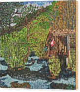 Jiuzhai Valley Wood Print