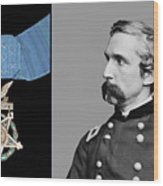J.l. Chamberlain And The Medal Of Honor Wood Print by War Is Hell Store