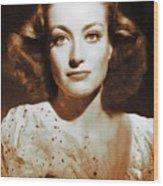 Joan Crawford, Hollywood Legends Wood Print