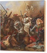 Joan Of Arc In The Battle Wood Print