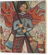 Joan Of Arc Wood Print