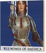 Joan Of Arc Saved France - Save Your Country Wood Print