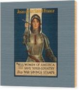 Joan Of Arc World War 1 Poster Wood Print